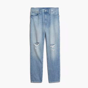 Madewell Ripped Edition Gilford Wash Mom Jean 31